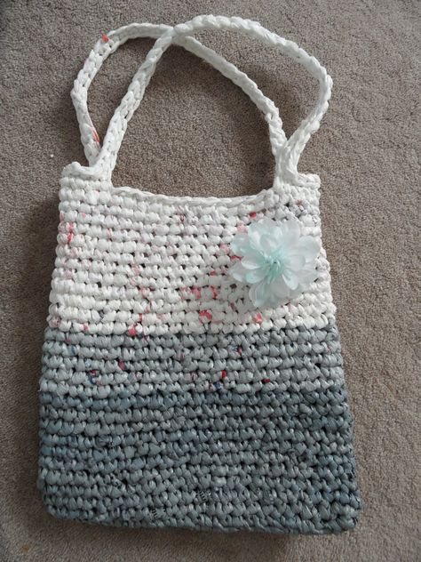 Recycled plastic shopping bags & DIY!!!      Just cannot get rid of them!   Made this bag out of plenty of plastic bags!  https://www.facebook.com/media/set/?set=a.372110809576585.1073741826.372108152910184=1=98244fe56b