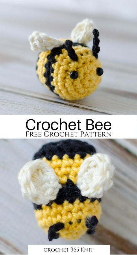 Crochet Bee - Crochet 365 Knit TooYou can find Best friend christmas gifts ideas and more on our website.Crochet Bee - Crochet 365 Knit Too Crochet Bee, Crochet Simple, Crochet Amigurumi Free Patterns, Crochet Animal Patterns, Stuffed Animal Patterns, Learn To Crochet, Cute Crochet, Crochet Crafts, Crochet Birds