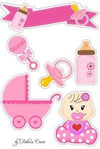 Bella Bebe Toppers Para Tartas Tortas Pasteles Bizcochos O Cakes Para Imprimir Gratis Moldes De Bebe Dibujos Baby Shower Moldes Para Baby Shower