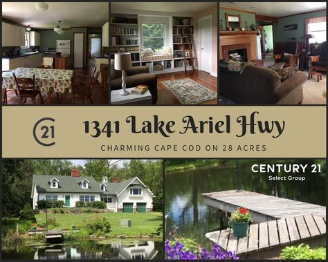 Pin By Century 21 Select Group On Hideout Homes For Sale In Lake Ariel With Images Cape Cod Style House Residential Real Estate Lake Ariel