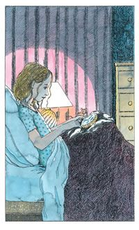 Philip Pullman, Northern Lights (2008). Illustrator - Peter Bailey; my grand-dog is named for the heroine, Lyra.