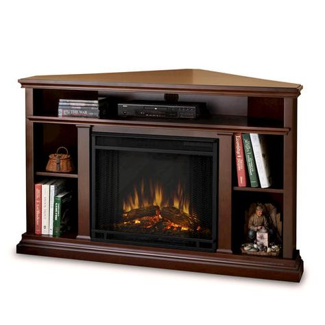 Real Flame Churchill Corner Electric Fireplace Entertainment