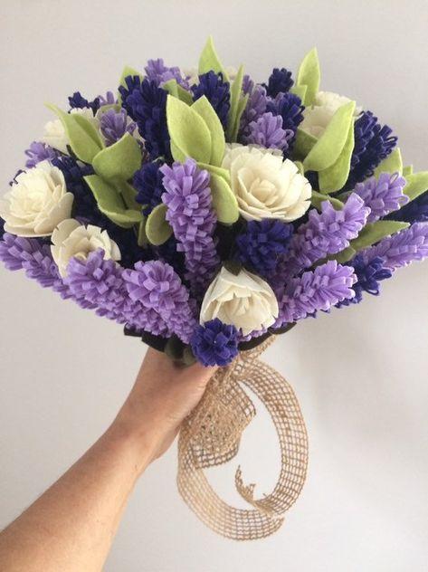 Bouquet Sposa Viola.Bouquet Sposa Bouquet Sposa Viola Bouquet Di Lavanda Di Feltro