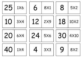 Domino Da Tabuada Para Imprimir Juegos Matematicos Para Imprimir