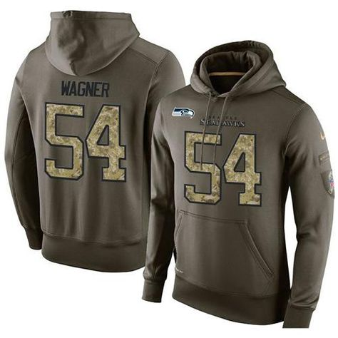 62662f5f522 Bears Brian Urlacher 54 jersey NFL Men s Nike Seattle Seahawks  54 Bobby  Wagner Stitched Green Olive Salute To Service KO Performance Hoodie Eagles  Carson ...