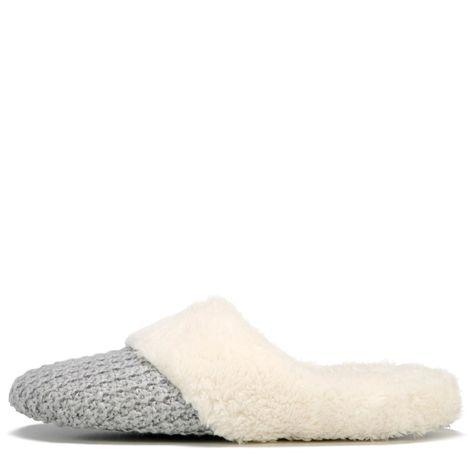 Dearfoams Womens Sweater Knit Closed Toe Scuff