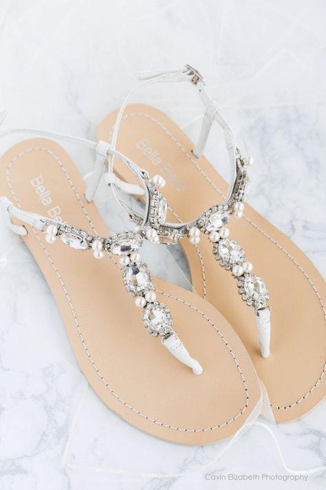 69105d6c4e32c Hera - Silver Pearl Wedding Sandals in 2019 | Bestie's gettin ...