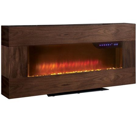 Scott Living Wall Mounted Or Free Standing 41 Electric Fireplace Qvc Com In 2020 Electric Fireplace Fireplace Living Wall