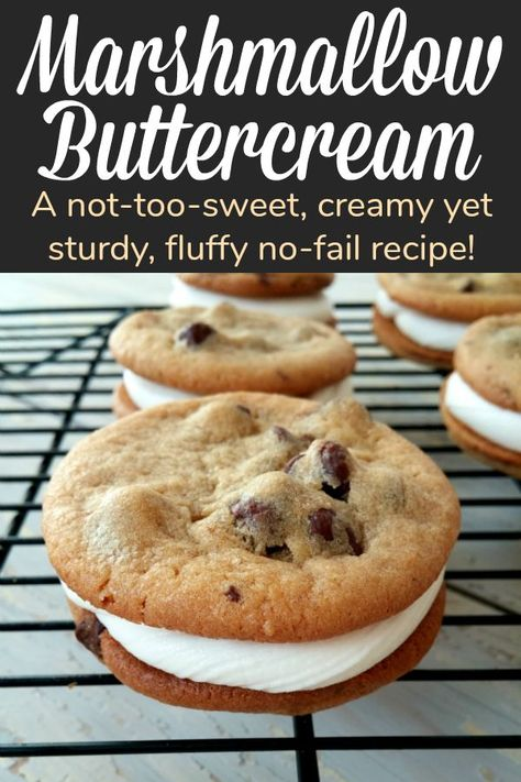 Cookie Sandwiches with No-Fail Marshmallow Buttercream Frosting