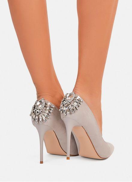 Szare Zdobione Szpilki Odessa W Sklepie Deezee Pl Shoes