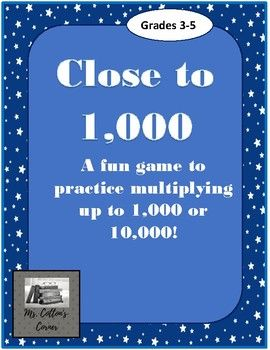 Close To 1000 Or 10 000 Differentiated Multiplication Practice No Prep Game Multiplication Practice Games Math Centers