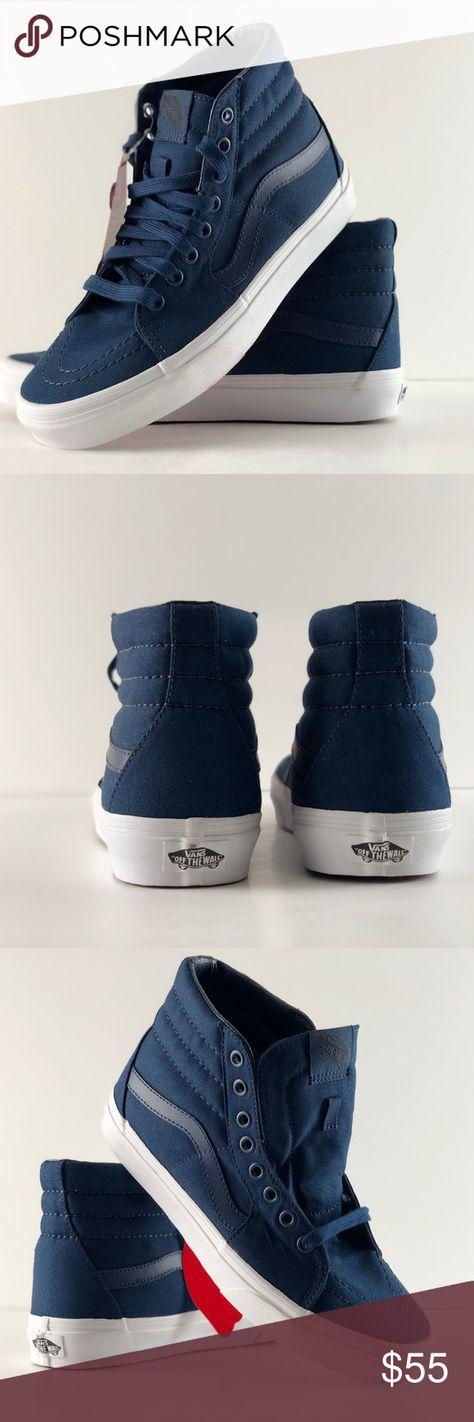 c49b86aa4576 Vans SK8-Hi Mono Canvas Dress Blues Shoes Vans SK8-Hi Mono Canvas Dress  Blues True White Shoes Size  Women s 8