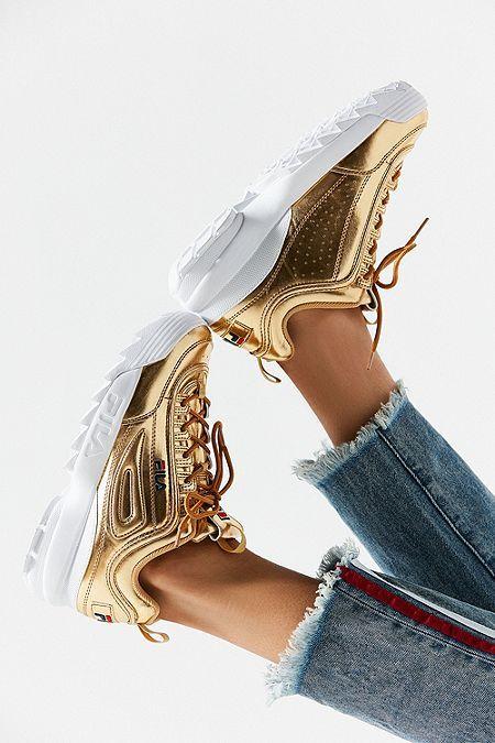 fila chaussure dorée