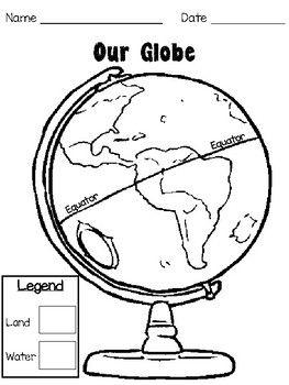 Label a Globe Worksheet | Worksheets for kids, Globe, Color ...