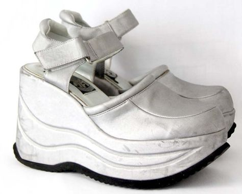 Pin by and christina on shoes | Silver platform shoes