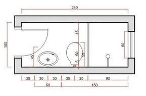 Dimensiones Mínimas Del Baño Baño Baños Del Dimensiones Planos De Baños Pequeños Cuartos De Baños Pequeños Planos De Baños