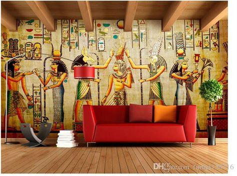 3D Ancient Egypt Pharaoh Egyptian Wall Mural Wallpaper Living Room Bedroom