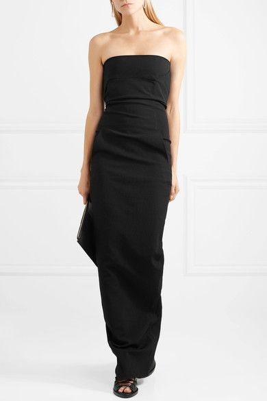 Inexpensive Online Draped Cotton-blend Crepe Gown - Black Rick Owens Discount Best Wholesale For Sale Cheap Online Discount Best Prices Sale High Quality 48cVhP