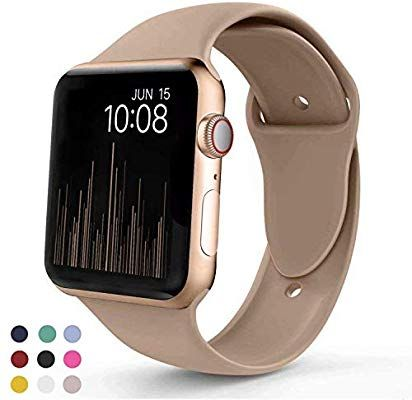 Amazon Com Vati Sport Band Compatible With Apple Watch Band 40mm 44mm 42mm 38mm Soft Silicone Sport Strap Rep Apple Watch Apple Watch Bands Smart Watch Apple