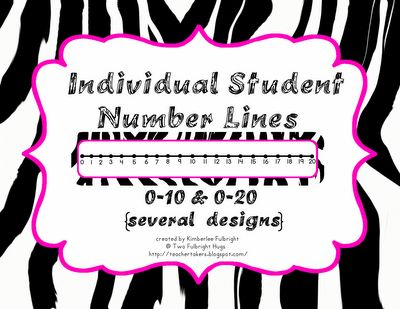 Here's a series of individual student number lines with sets from 0-10 and 0-20.