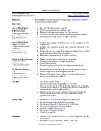 Apache ...  Openoffice Resume Template