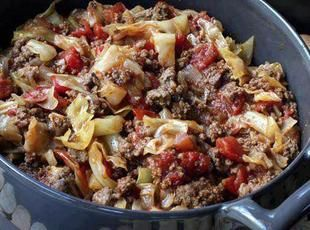 Unstuffed Cabbage Rolls Recipe - easy quick meal, low carbs and very tasty :)