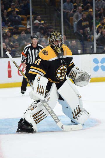 Boston Ma October 11 Jaroslav Halak 41 Of The Boston Bruins In The Net Against The Edmonton Oiler Boston Bruins Goalies Bruins Hockey Boston Bruins Hockey