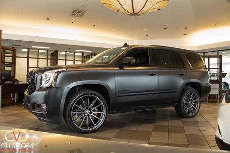 2019 Gmc Yukon Denali With Vossen Wheels Done By Custom Vehicle Design What Are You Waiting For Customize Your Vehicle Gmc Yukon Gmc Denali Gmc Yukon Denali