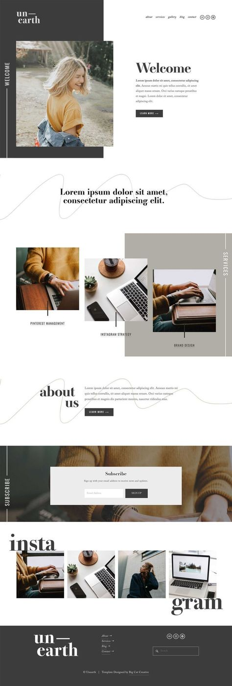 Unearth Squarespace Template Kit