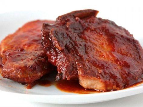 Todo El Sabor De Casa En Esta Carne Enchilada Recetas De Chuletas Recetas De Chuletas De Cerdo Recetas Deliciosas