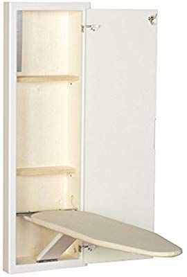 Amazon Com Household Essentials 18100 1 Stowaway In Wall Ironing Board Cabinet With Built With Images Wall Mounted Ironing Board Wall Ironing Board Ironing Board Cabinet