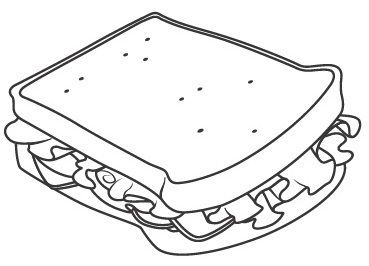The Big Sandwich Junk Food Coloring Page For Kids Food Coloring
