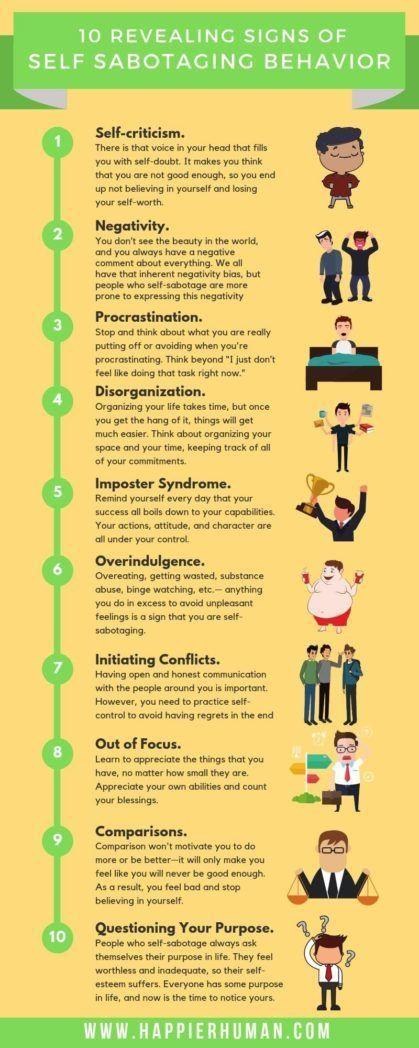 10 Revealing Signs of Self Sabotaging Behavior