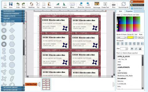 Visitenkarte Kostenlose Online Creator Zusammen Mit Design