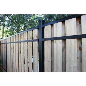 Slipfence 2 In X 3 In X 8 Ft Black Aluminum Fence Rail Kit Sf2