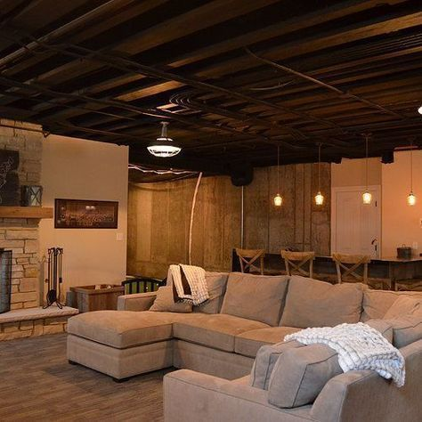 Unfinished Basement Ideas Tags On A Budget Diy Cheap Industrial For Kids Bedroom Walls Floors Ceil Basement Remodeling Basement Decor Basement Design