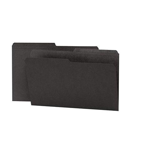 100 per Box Smead Reversible File Folder Black 1//2-Cut Printed Tab Letter Size 10364