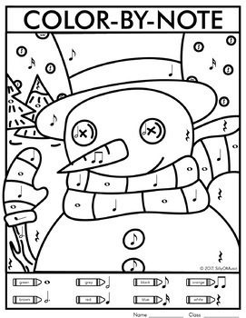 Christmas Color By Music Note Worksheets Music Coloring Christmas Music Activities Christmas Music Coloring