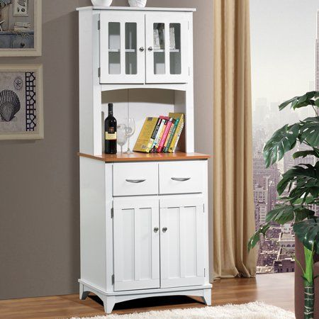 Home Microwave Cart Small China Cabinet Kitchen Cabinet Storage