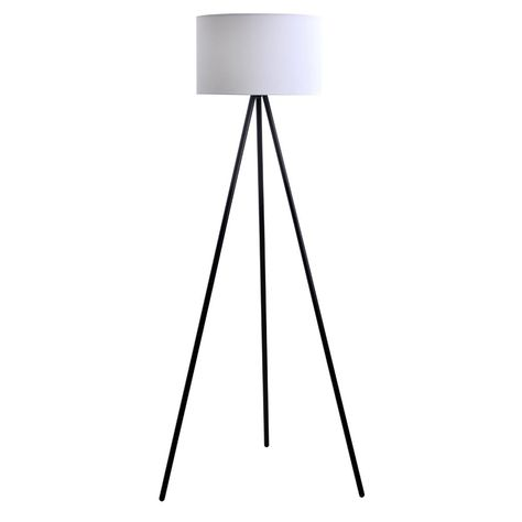 Carson Carrington Vinderup Black 61.25-inch 3-way Tripod Floor Lamp