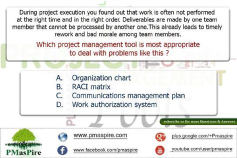Project Management is the art of making things happen PMP - project organization chart