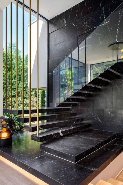 Contemporary Staircase Design - Inside the Le Pine Famiile Home by SAOTA