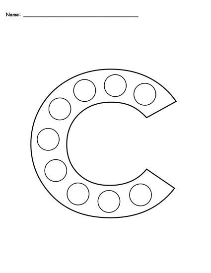 Letter C Do A Dot Printables Uppercase Lowercase Do A Dot Letter C Crafts Letter C Activities