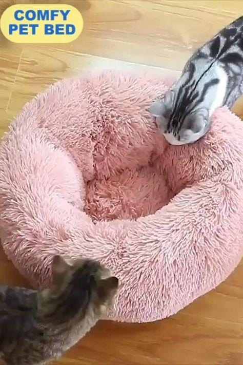 Comfy Calming High Stretch Soft Pet Bed