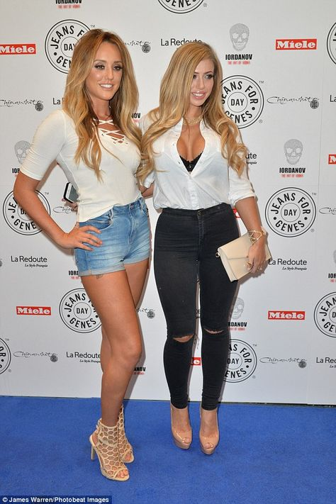 Co-stars: Marnie's Geordie Shore co-stars Charlotte and Holly cut very glamorous figures at the charity party at Chinawhite