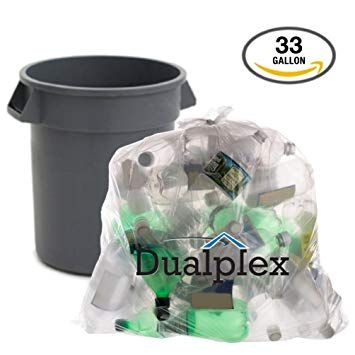 Dualplex Clear Recycling Garbage Bags By 33 Gal 100 Case 33 X 39 1 2 Mil Review Garbage Bags Recycling Trash Bags