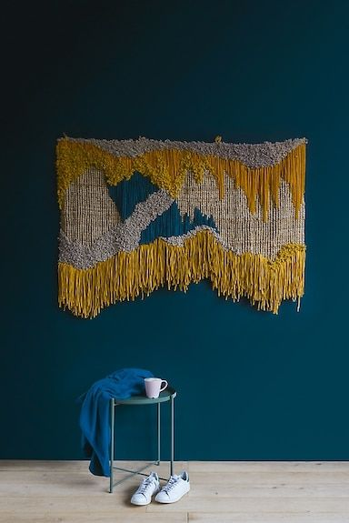 Een Wandtapijt Maken Doe Je Zo Wall Weave Woven Wall Art Weaving Wall Hanging