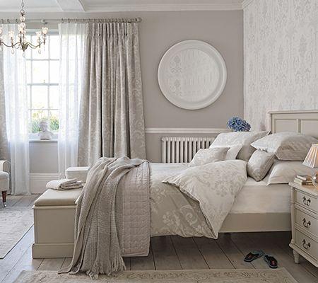 Josette dove grey bed linen, Laura Ashley - bedroom accessories - homes - allaboutyou.com
