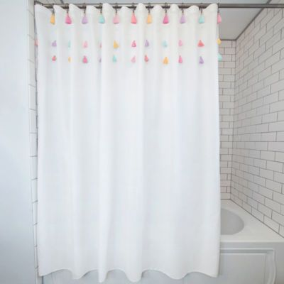Frank And Lulu Tassel 13 Pc Shower Curtain Set Shower Curtain