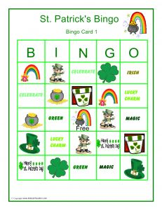 photograph relating to St Patrick's Day Bingo Printable identified as Free of charge Printable St. Patricks Working day BINGO as a result of @TheQuietGrove